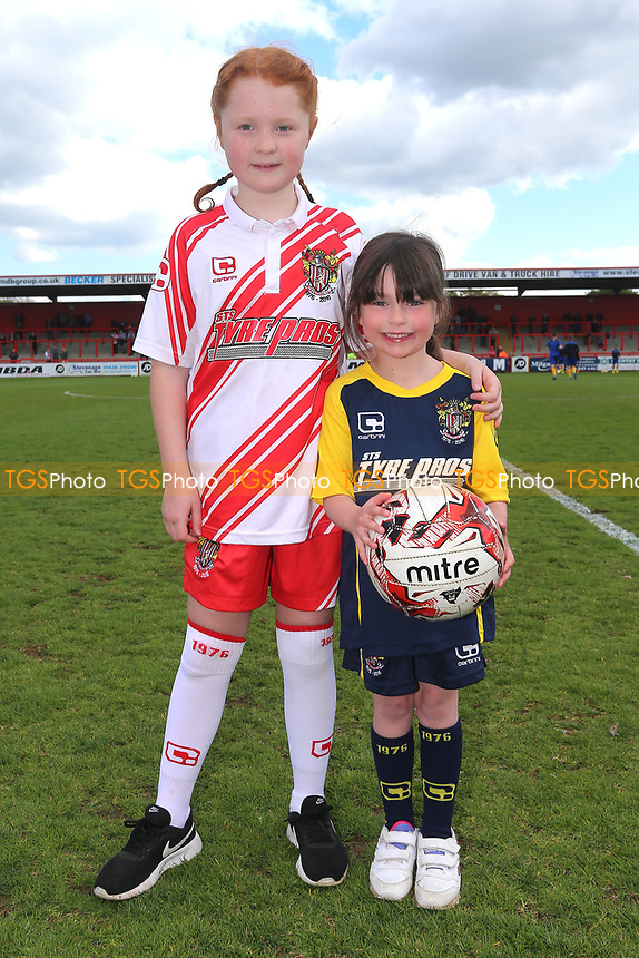 Stevenage mascots during Stevenage vs Mansfield Town, Sky Bet EFL League 2 Football at the Lamex Stadium on 22nd April 2017