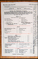 BNPS.co.uk (01202 558833)<br /> Pic: Onslows/BNPS<br /> <br /> After the 'Kings Proclamation' of May 2nd 1917 Simpsons had to inform their patrons that 'no pastry would be served'!.<br /> <br /> This rare 1917 'Bill of Fare' for upmarket restaurant Simpsons in the Strand shows how even the upper classes were starting to feel the pinch after four years of conflict.<br /> <br /> Cash in the Attic! - Iconic £15,000 Kitchener poster rediscovered.<br /> <br /> A super-rare Lord Kitchener recruitment poster has been discovered amongst a timecapsule box of ephemera from the Great War uncovered in a Cumbrian attic.<br /> <br /> Bizarrely, despite its iconic status, only five other original copies of the poster are known to still survive making this find incredibly valuable.<br /> <br /> It was found folded up in a box by an elderly gentleman who was going through his late wife's possessions.<br /> <br /> Also found was a 1917 menu to upmarket restaurant Simpsons in the Strand that reveals the wartime rationing was even starting to affect the upper classes. with 'meat free days' and a shortage of 'saddles of mutton'.<br /> <br /> Patrick Bogue of poster specialists Onslows Auctions said 'It's a real Howard Carter moment, it's incredible how something so familiar is actually so rare'.