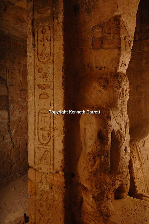 Taharka Temple interior, details, God Bes,Gebel Barkal,Temple Complex, Pharaoh Taharka, Mut temple, B300, Kareima town, Nile river,Black Pharaohs, Nubians, Sudan, 25th dynasty, Late Period.