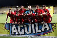BOGOTÁ -COLOMBIA, 30-NOVIEMBRE-2015. Formación  de Fortaleza contra Leones durante el encuentro  por la fecha 6 del Torneo  Aguila II 2015 jugado en el estadio  Metropolitano de Techo  de la ciudad de Bogotá./ Team  of  Fortaleza against  of Leones  during  match between played in the  Metropolitano  de Techo  stadium in Bogota. Photo: VizzorImage / Felipe Caicedo / Staff