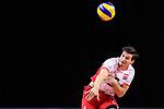 13.09.2019, Paleis 12, BrŸssel / Bruessel<br />Volleyball, Europameisterschaft, Belgien (BEL) vs. …sterreich / Oesterreich (AUT)<br /><br />Aufschlag / Service Anton Menner (#6 AUT)<br /><br />  Foto © nordphoto / Kurth