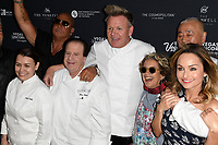 LAS VEGAS, NV - MAY 11: Gordon Ramsay, Susan Feniger and Giada De Laurentiis at the Grand Tasting during the 12th Annual Vegas Uncork&rsquo;d by Bon App&eacute;tit at Garden of the Gods Pool Oasis at Caesars Palace on May 11, 2018. <br /> CAP/MPI/DAM<br /> &copy;DAM/MPI/Capital Pictures