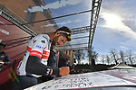 Fernando Gaviria (COL) UAE Team Emirates at sign on in Fortezza Medicea before the start of Strade Bianche 2019 running 184km from Siena to Siena, held over the white gravel roads of Tuscany, Italy. 9th March 2019.<br /> Picture: LaPresse/Gian Matteo D'Alberto | Cyclefile<br /> <br /> <br /> All photos usage must carry mandatory copyright credit (© Cyclefile | LaPresse/Gian Matteo D'Alberto)