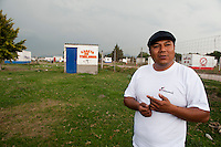 """Cesar Urban Silva at his fireworks factory outside of Tultepec. The """"Castillos"""" or castles of Tultepec is a yearly tradition where the town, 90% of which works making artisanal fireworks, celebrates its patron sant San Juan de Dios, also the patron saint of firemen.  Tultepec, Estado de Mexico, Mexico."""