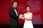 "Riru Yoshina, November 05, 2019 - Riru Yoshina, speak after winning ""Tokyo Gemstone Award"" for the film ""Take Over Zone""during the 32nd Tokyo International Film Festival, award ceremony, in Tokyo, Japan on November 05, 2019. (Photo by 2019 TIFF/AFLO)"