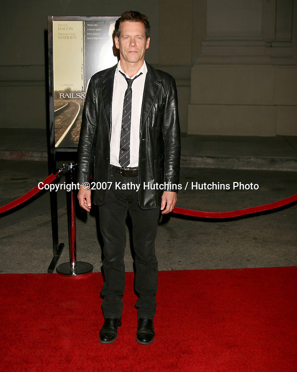 """Kevin Bacon.""""Rails & Ties"""" Premiere.Stephen J. Ross Theater.Warner Brothers Lot.Burbank,  CA.October 23, 2007.©2007 Kathy Hutchins / Hutchins Photo...               ."""