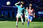 "Atletico de Madrid Mª Pilar ""Mapi"" Leon and FC Barcelona Vicky Losada during match of La Liga Femenina between Atletico de Madrid and FC Barcelona at Vicente Calderon Stadium in Madrid, Spain. December 11, 2016. (ALTERPHOTOS/BorjaB.Hojas)"
