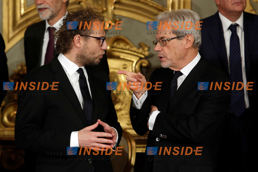 Luca Lotti e Claudio De Vincenti<br /> Roma 12-12-2016. Quirinale Cerimonia del giuramento die Ministri<br /> Rome December 12th 2016. Swearing ceremony of the new Government<br /> Foto Samantha Zucchi Insidefoto