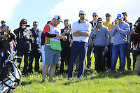 Green Bay Packers NFL quarterback Aaron Rodgers in the rough on the 6th hole at Pebble Beach Golf Links during Saturday's Round 3 of the 2017 AT&amp;T Pebble Beach Pro-Am held over 3 courses, Pebble Beach, Spyglass Hill and Monterey Penninsula Country Club, Monterey, California, USA. 11th February 2017.<br /> Picture: Eoin Clarke | Golffile<br /> <br /> <br /> All photos usage must carry mandatory copyright credit (&copy; Golffile | Eoin Clarke)