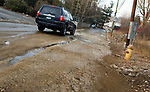 WATERBURY , CT-011519JS06- Residents have complained about the build up of ice that occurs on Spring Brook Road in Waterbury. <br /> Jim Shannon Republican American