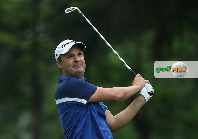 Simon Khan (ENG) shot a 69 just two shots off the lead during Round One of the 2014 Volvo China Open, Genzon Golf Club, Shenzhen, China. Picture:  David Lloyd / www.golffile.ie