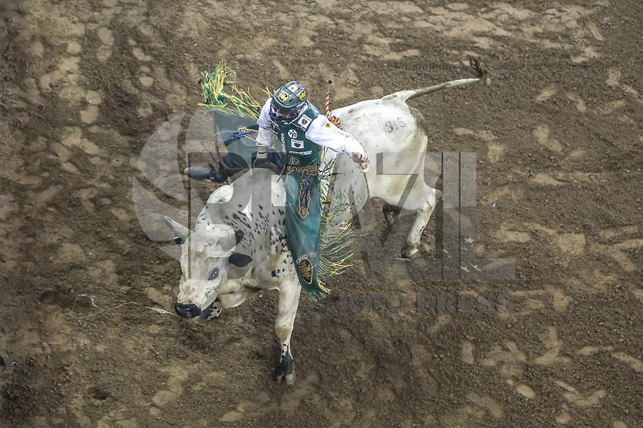 NOVA YORK, 06.01.2019 - PBR-NEW YORK - Montaria do PBR  (Professional Bull Riders) empresa norte-americana que promove competições internacionais de montaria em touros etapa  Nova York no Madison Square Garden neste domingo. (Foto: Vanessa Carvalho/Brazil Photo Press)