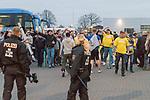 10.03.2018, RASTA Dome 2.0, VECHTA, GER, Beko BBL ProA, RASTA Vechta vs Phoenix Hagen, im Bild<br /> <br /> Hochsicherheitsspiel in Vechta - 120 Polizisten begleiteten die Fans aus Hagen zum RASTA DOME (Grund Vorkommisse beim letzten Spiel in Vechta und Hagen)<br /> <br /> Foto &copy; nordphoto / Kokenge