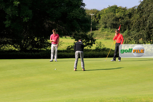 John Ross Galbraith (Whitehead) on the 5th green during round 2 of The Mullingar Electrical Scratch Trophy in Mullingar Golf Club on Monday 4th August 2014.<br /> Picture:  Thos Caffrey / www.golffile.ie