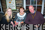 Niamh,Breda and John Switzer,Forge Cross,Tralee enjoying a social celebration jar in the Brogue after Austin Stacks won the senior county football championship in Killarney last Sunday