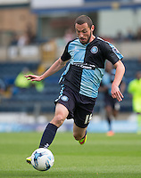 Michael Harriman of Wycombe Wanderers on the ball during the Sky Bet League 2 match between Wycombe Wanderers and Hartlepool United at Adams Park, High Wycombe, England on 5 September 2015. Photo by Andy Rowland.
