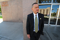 Phoenix, Arizona (March 16, 2014) -- Senator Steve Gallardo standing outside the Senate building in Phoenix, Arizona. Photo Eduardo Barraza © 2014