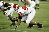 January 5th, 2008:  Rutgers defensive lineman Gary Watts prepares to rush during the fourth quarter of the International Bowl at the Rogers Centre in Toronto, Ontario Canada...Rutgers defeated Ball State 52-30.  ..Photo By:  Mike Janes Photography