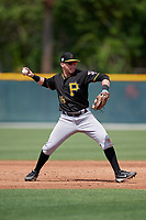 Pittsburgh Pirates Steven Kraft (89) during a minor league Spring Training game against the Philadelphia Phillies on March 13, 2019 at Pirate City in Bradenton, Florida.  (Mike Janes/Four Seam Images)
