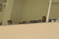 ATENÇÃO EDITOR: FOTO EMBARGADA PARA VEÍCULOS INTERNACIONAIS - SÃO PAULO, SP, 25 DE NOVEMBRO DE 2012 - CAMPEONATO BRASILEIRO - PALMEIRAS x ATLETICO GOIANIENSE: Barcos assiste a partida Palmeiras x Atletico Goianiense, válida pela 37ª rodada do Campeonato Brasileiro no Estádio do Pacaembú. FOTO: LEVI BIANCO - BRAZIL PHOTO PRESS