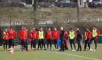 Besprechung Eintracht - 06.03.2018: Eintracht Frankfurt Training, Commerzbank Arena