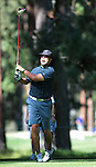 David Justice hits a tee shot during practice rounds at the American Century Championship golf tournament at Edgewood Tahoe at Stateline, Nev., on Wednesday, July 18, 2012..Photo by Cathleen Allison