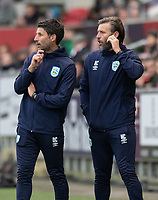 Huddersfield Town manager Danny Cowley (left)  and assistant manager Nicky Cowley (right) <br /> <br /> Photographer David Horton/CameraSport<br /> <br /> The EFL Sky Bet Championship - Bristol City v Huddersfield Town - Saturday 30th November 2019 - Ashton Gate Stadium - Bristol<br /> <br /> World Copyright © 2019 CameraSport. All rights reserved. 43 Linden Ave. Countesthorpe. Leicester. England. LE8 5PG - Tel: +44 (0) 116 277 4147 - admin@camerasport.com - www.camerasport.com