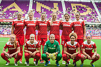 Orlando, FL - Saturday April 22, 2017: Washington Spirit Starting Eleven during a regular season National Women's Soccer League (NWSL) match between the Orlando Pride and the Washington Spirit at Orlando City Stadium.