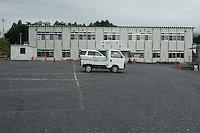 Temporary community center landscape view following the Tohoku 311 Tsunami in Rikuzentakata, Japan  © LAN