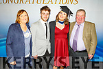 Laura Monaghan standing with her mom Geraldine Costello and dad Sean Monaghan with PJ Enright at her graduation from the I T Tralee on Friday,