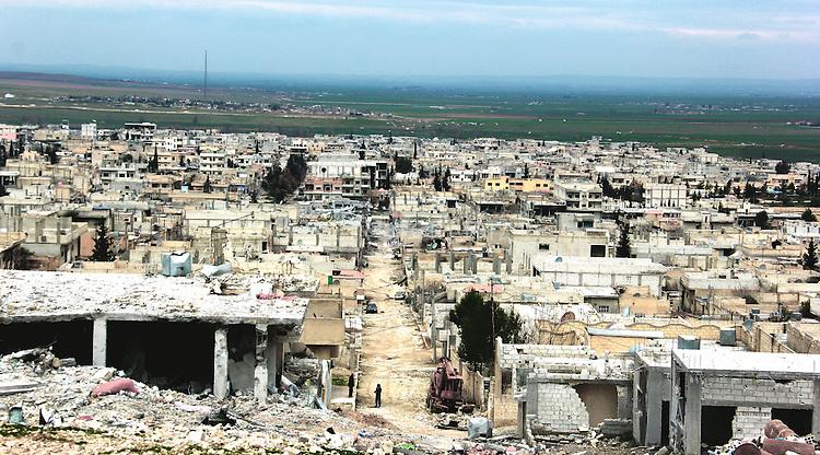 25/2/2015--Kobane,Syria-- a view of Kobane taken from (Mushta Noor's) gate.