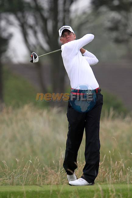 Dan Brown (ENG) on the 4th on the Final Day at the 2012 Boys Home Internationals at Co.Louth Golf Club in Baltray, Co.Louth...(Photo credit should read Jenny Matthews/NEWSFILE)...