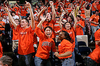 Virginia Cavalier fans at the University of Virginia in Charlottesville, VA. Photo/Andrew Shurtleff.