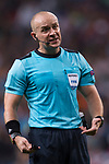 Referee Szymon Marciniak in action during the UEFA Champions League 2017-18 match between Real Madrid and Tottenham Hotspur FC at Estadio Santiago Bernabeu on 17 October 2017 in Madrid, Spain. Photo by Diego Gonzalez / Power Sport Images