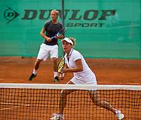 2013,August 24,Netherlands, Amstelveen,  TV de Kegel, Tennis, NVK 2013, National Veterans Tennis Championships,   Mixed Doubles<br /> Photo: Henk Koster