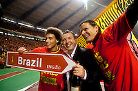 "The ""Diables Rouges"" celebrate their victory for the FIFA world cup in Brazil - Belgium"