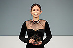 """Japanese actress Yasuko Matsuyuki attends the """"Women of the Year"""" Award Ceremony at the Japan Jewellery Fair 2018 in Tokyo Big Sight on August 29, 2018, Tokyo, Japan. The annual award is presented to women who have excelled in fields such as business, sports, and society, and is chosen by the Japan Jewellery Association. (Photo by Sho Tamura/AFLO)"""