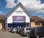 b&m home store now open sign, Copdock, Ipswich, England offering big brand savings