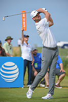 Kevin Tway (USA) watches his tee shot on 8 during round 4 of the AT&T Byron Nelson, Trinity Forest Golf Club, at Dallas, Texas, USA. 5/20/2018.<br /> Picture: Golffile | Ken Murray<br /> <br /> All photo usage must carry mandatory copyright credit (© Golffile | Ken Murray)