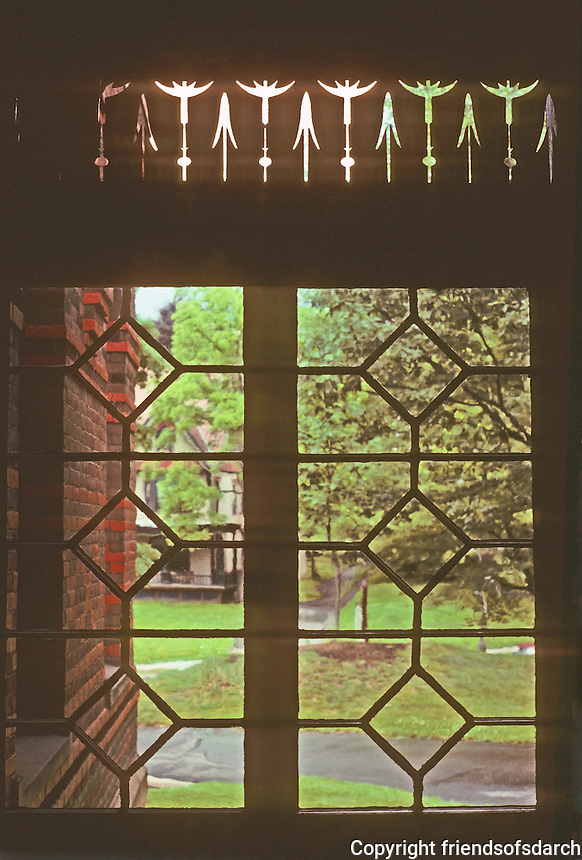 Hartford: Twain House--porch detail. Photo'91.
