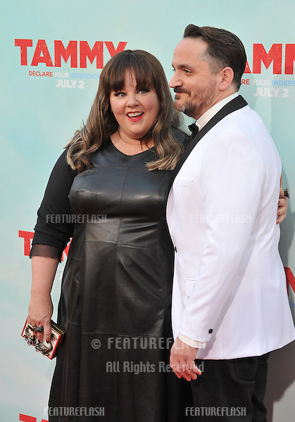 Melissa McCarthy &amp; husband actor/writer/director Ben Falcone at the premiere of their movie &quot;Tammy&quot; at the TCL Chinese Theatre, Hollywood.<br /> June 30, 2014  Los Angeles, CA<br /> Picture: Paul Smith / Featureflash