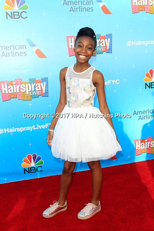 LOS ANGELES - JUN 9:  Shahadi Wright Joseph at the NBC's 'Hairspray Live!' FYC Event at the ATAS Saban Media Center on June 9, 2017 in North Hollywood, CA