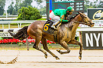 JULY 11, 2020 : Cobble Hill with jockey Kendrick Carmouche win race 3 by 7 lengths at Belmont Park, Elmont, NY.  Sue Kawczynski/Eclipse Sportswire/CSM