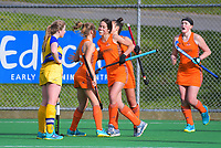 Midlands v Southern women. 2019 National Hockey Under-18 Tournament at National Hockey Stadium in Wellington, New Zealand on Tuesday, 9 July 2019. Photo: Dave Lintott / lintottphoto.co.nz
