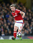 Middlesbrough's Grant Leadbitter in action during the Premier League match at Stamford Bridge Stadium, London. Picture date: May 8th, 2017. Pic credit should read: David Klein/Sportimage