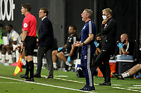 30th July 2020; Craven Cottage, London, England; English Championship Football Playoff Semi Final Second Leg, Fulham versus Cardiff City; Cardiff City Manager Neil Harris screams at the referee
