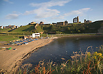 Priory and castle, Tynemouth, Northumberland, England