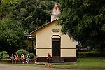 Protestant church Vaitahu. Island Tahuataeglise protestante de Vaitahu.  Ile de Tahuata