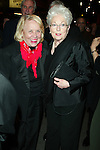 LIZ SMITH and ANN RICHARDS.Attending the Opening Night  for  URBAN COWBOY THE MUSICAL at the .Broadhurst Theater, New York City. March 27, 2003.