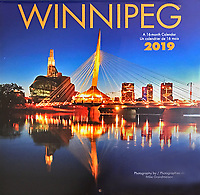 PRODUCT: Calendar<br /> TITLE: Winnipeg Wall 2019<br /> CLIENT: Wyman Publications / Browntrout Canada
